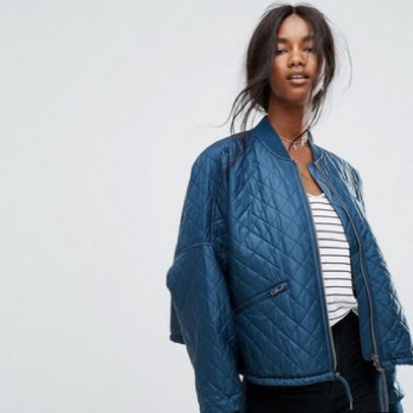 Free People Jackets & Blazers - Free People Easy Quilted Bomber Jacket